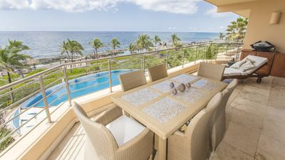 Photo for March 2020 Special rates! Gorgeous, luxurious ocean front two-bedroom apartment