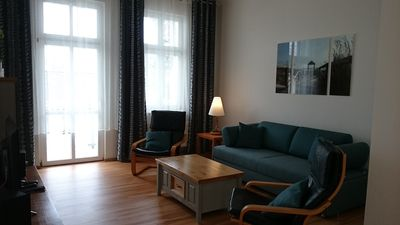 Photo for Duplex apartment with sauna and swimming pool Including 200 m to the sea