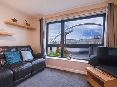 Photo for SECC/Hydro 2 bed flat with amazing views & Parking