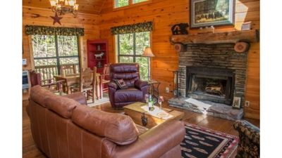 Photo for Cabin Sleeps up to 5 with mountain view and hot tub