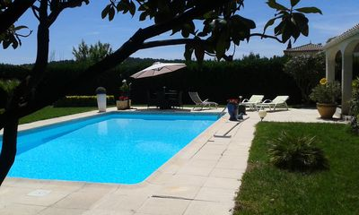 Photo for VILLA ON THE BEACH IN THE PEACE WITH LARGE SWIMMING POOL