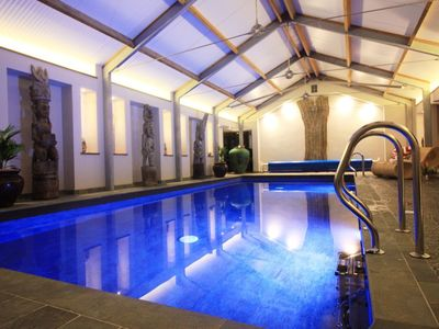 Photo for Burr Barn luxury Devon barn with heated indoor swimming pool
