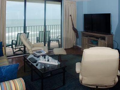 Photo for Spinnaker 705, 3 Bedroom Beachfront Condo, Pool and Free Wi-Fi!