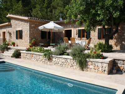 Photo for Stunning 2 bed Soller villa with pool in private grounds with spectacular views