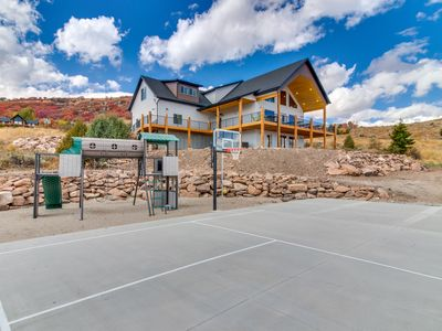 Photo for NEW LISTING! Gorgeous Bear Lake getaway with private hot tub and game room!