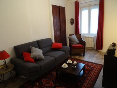 Photo for Bright duplex of 4 rooms at 300 m from the beach (wifi)