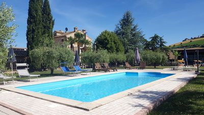 Photo for Country House and Sun, private pool, jacuzzi, 9 bedrooms, 22 persons,