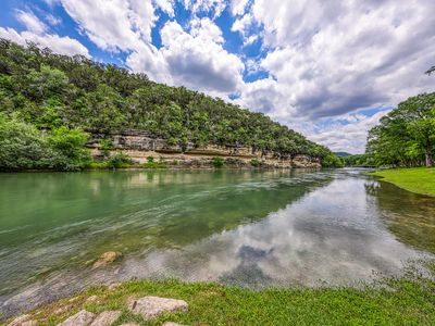 Photo for Waterfront condo w/shared pool & large patio - on the Guadalupe River!