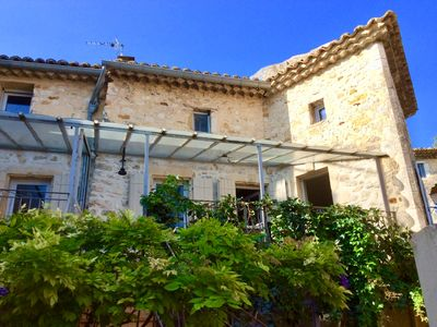 Photo for Renovated Village house with pool and garden in medieval village