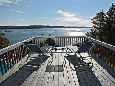 Photo for Starboard Cabin, Private Dock, Moorings, Spectacular Views of Linekin Bay