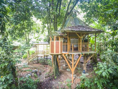 Photo for Charming Treehouse in Private Rainforest Reserve, Jungle Paradise, Waterfalls