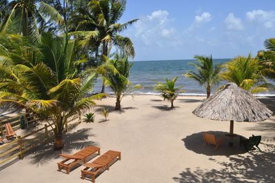 Beachfront Blue Moon Cabana. Your view from the covered veranda.