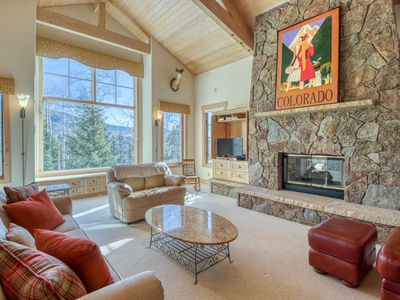 Photo for Large home w/mountain views, gas fireplaces & gourmet kitchen