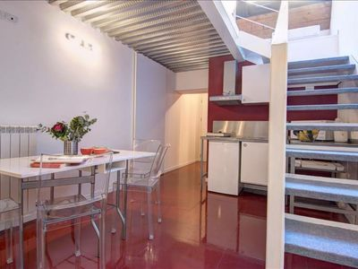 Photo for Giambellino Duplex apartment in Navigli with WiFi & integrated air conditioning.