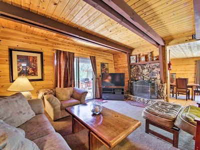 Photo for NEW! Cozy Big Bear Lake Cabin w/ Fireplace + Deck