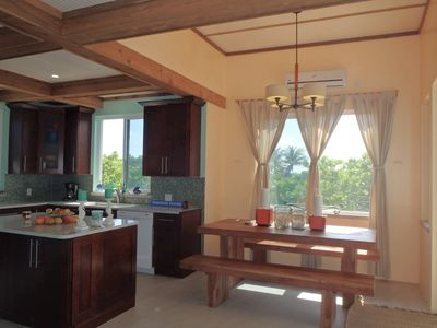 Indoor dining and kitchen