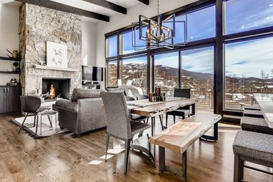 Open plan living area with amazing mountain views