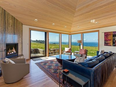 Photo for Large oceanfront cottage with private hot tub, huge kitchen- Good for Groups!