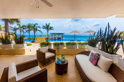 Private oceanfront terrace ...cocktails anyone?
