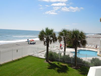 Photo for Charleston Oceanfront Villas 120 - Spacious Oceanfront Condo on 1st Floor