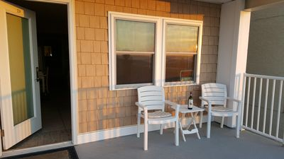 Photo for Ocean Front Condo  *End Unit*   Steps from the Beach,