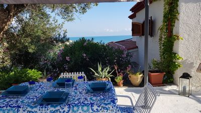 Photo for Apartment in a panoramic villa 300 meters from the sea, 3 km from the Spa. Wifi