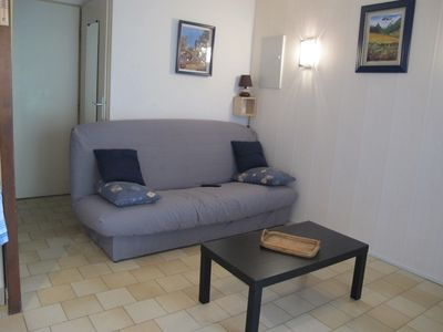 Photo for 50 m from the beach, superb studio cabin in a secure residence with swimming pool. Ref. 2874