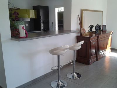 Photo for Contemporary villa 200m from the beach and lido.