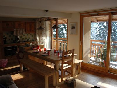 Photo for Charming apartment 4/6 people, Serre Chevalier 1400 m 3 *, WIFI