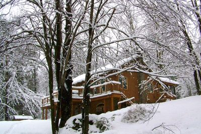 Our house in the beautiful snow