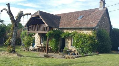 Photo for Family friendly beautiful cottage with private pool in the Dordogne