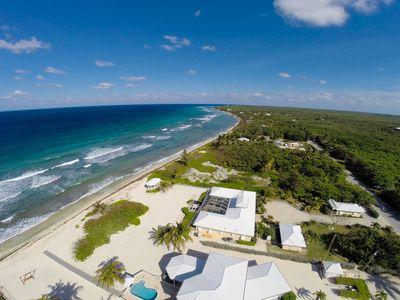 Photo for Cayman Sands: Secluded Beach Villa with Pool Atrium & Guest Cottage