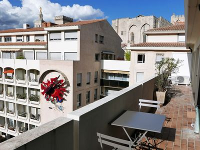 Photo for Bright flat w/ large balcony and garage at the heart of Avignon - Welkeys