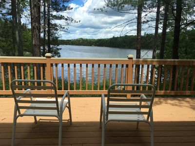 Photo for Clean, cozy lakefront cottage 1/2 mi from Blue Bear ORV and snowmobile trail