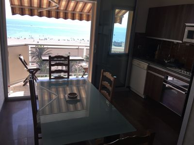 Photo for Canet-plage, T2, seafront, 48M2, parking, covered, wifi, crossing, standing, 5th floor