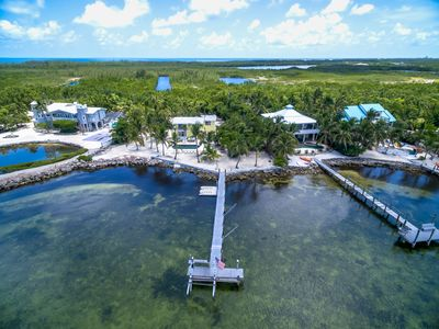 Photo for Gulf Front Haven on Grassy Key, 4 Bed Pool Home with Spa & Dock, Fabulous Views