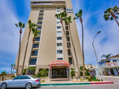 Photo for Two bedroom Ocean Front Condo. Secure building, Steps to beach, pool and spa