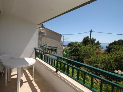 Photo for Three bedroom apartment with terrace and sea view Makarska (A-6791-a)