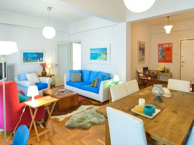 Photo for Athens Stylish apt next to the beach and port