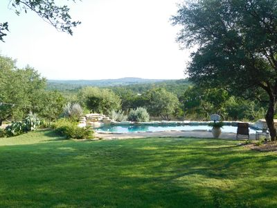 Photo for Private Hill Country Retreat, panoramc views, huge porch, spacious home