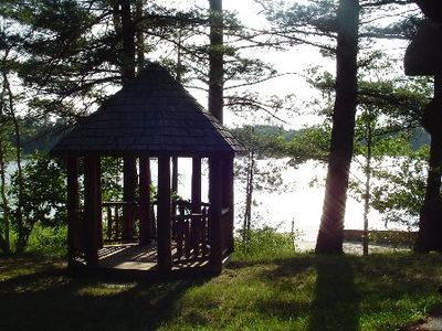 Photo for Log Home On Wequas Lake, dog-friendly, free boats