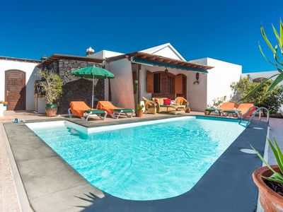 Photo for Villa Rosamar: Heated Private Pool, Walk to Beach, A/C, WiFi, Car Not Required