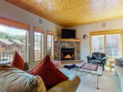 Photo for Family friendly condo w/ mountain views, gas fireplace, & a shared hot tub