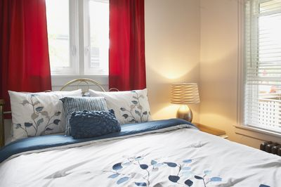 Fresh Linens in A Bright Airy Bedroom