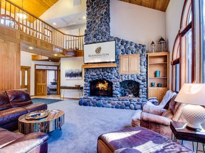 Photo for Luxury Retreat, Sleeps 16, Hot Tub, Sun Room w/Games, Wood Fireplace - BLUE10