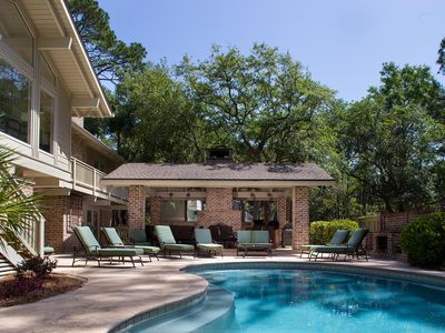 Photo for A spacious group vacation getaway with private heated pool and hot tub!