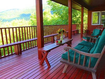 Superb Mountain View from your HUGE PRIVATE deck - Great home for entertaining!
