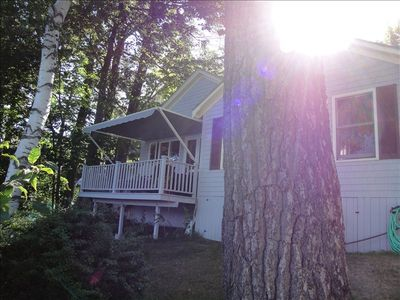 Private Deck - front of cottage