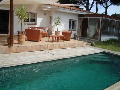 Photo for Villa Gemini: wifi garden private pool, close to the beach and shops