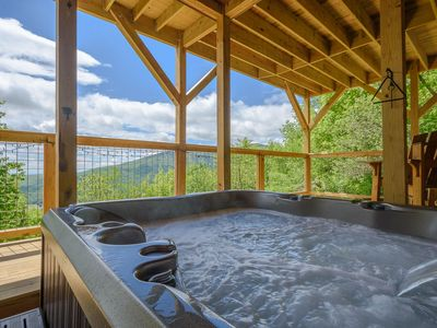 Photo for 3BR Cabin, Views, Hot Tub, Foosball, Close to Zipline, Snow Tube, Banner Elk, Boone, Grandfather Mtn